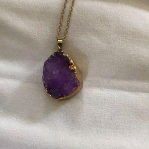 Jewelry - Druzzy purple necklace